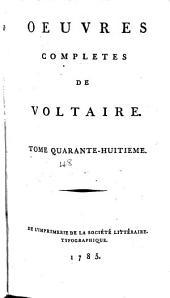 Œuvres complètes de Voltaire: Volume48