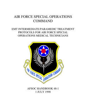 AFSOC HANDBOOK 48 1 EMT INTERMEDIATE PARAMEDIC TREATMENT PROTOCOLS FOR AIR FORCE SPECIAL OPERATIONS MEDICAL TECHNICIANS PDF