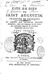 La Cité de Dieu de saint Augustin, traduite en françois par (Pierre Lombert) et revue sur plusieurs anciens manuscrits...