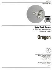 1977 Census of Retail Trade: Major Retail Centers in Standard Metropolitan Statistical Areas, Oregon