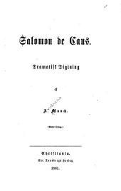 Salomon de Caus: dramatisk digtning