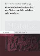 Griechische Profanhistoriker des funften nachchristlichen Jahrhunderts PDF