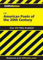 CliffsNotes on American Poets of the 20th Century PDF