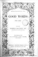 Good words  ed  by N  Macleod PDF