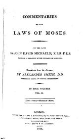 Commentaries on the Laws of Moses: Volume 2