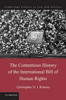 The Contentious History of the International Bill of Human Rights PDF