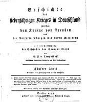 Geschichte des siebenjährigen Krieges in Deutschland: Band 5