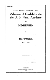 Regulations Governing the Admission of Candidates Into the Naval Academy