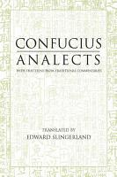 Analects  With Selections from Traditional Commentaries PDF