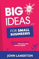 Big Ideas    for Small Businesses PDF