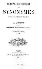 Dictionnaire universel des synonymes de la langue francaise: Volumes1à2