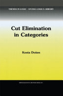 Cut Elimination in Categories