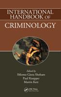 International Handbook of Criminology PDF
