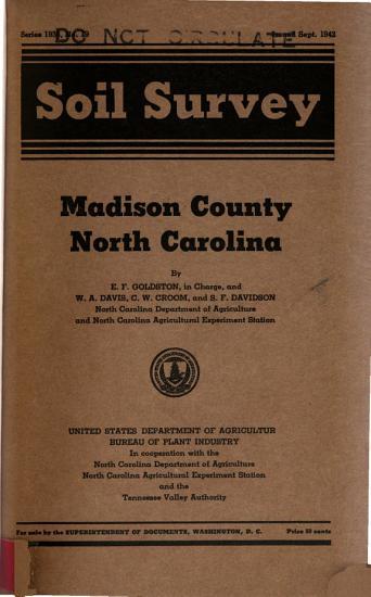 Soil Survey of Madison County  North Carolina PDF