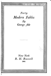 Forty Modern Fables