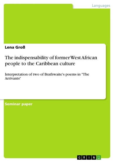 The indispensability of former West African people to the Caribbean culture PDF