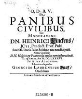 De panibus civilibus; resp. Georgius Laurentius Graff