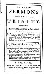 Thirteen Sermons Concerning the Doctrine of the Trinity