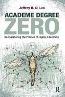 Academe Degree Zero PDF