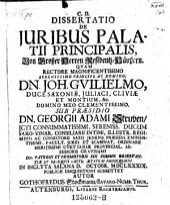De juribus palatii prinsipalis respond. Gothofredus Stockmann
