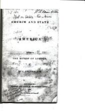 Church and State in America: Inscribed to the Bishop of London