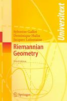 Riemannian Geometry PDF