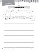 Bud  Not Buddy Reader Response Writing Prompts PDF