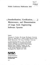 Standardization  Certification  Maintenance  and Dissemination of Large Scale Engineering Software Systems PDF
