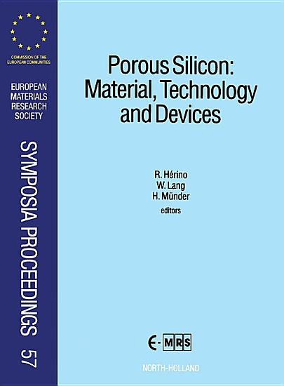 Porous Silicon  Material  Technology and Devices PDF