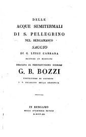 Delle acque semitermali di S. Pellegrino nel Bergamasco