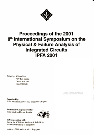 Proceedings of the     International Symposium on the Physical   Failure Analysis of Integrated Circuits PDF