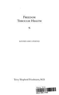 Freedom Through Health PDF