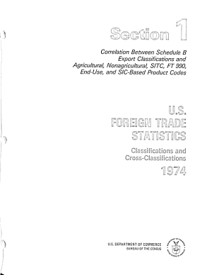U S  Foreign Trade Statistics Classifications and Cross classifications  1974