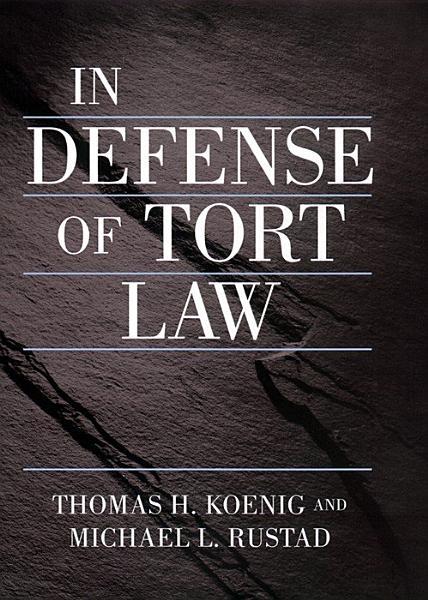 In Defense of Tort Law Pdf Book