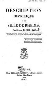 Description historique de la ville de Rheims