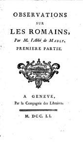 Observations sur les Romaines: Volume1