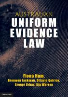 Australian Uniform Evidence Law PDF