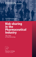Risk-sharing in the Pharmaceutical Industry