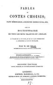 Fables et contes choisis; avec un dictionnaire