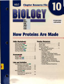 Chapter Resource 10 How Proteins/Made Biology