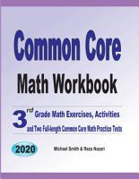 Common Core Math Workbook PDF