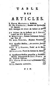 Journal des sçavans: 1733, [4]. Sept. - Déc.