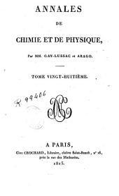 Annales de chimie et de physique: Volume28