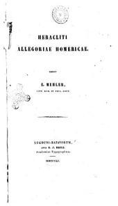Heracliti Allegoriae Homericae Edidit E. Mehler