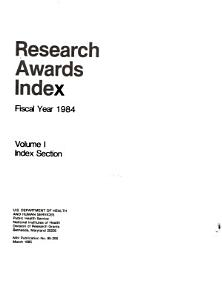 Research Awards Index PDF