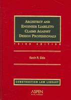 Architect and Engineer Liability PDF