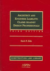 Architect And Engineer Liability Book PDF