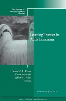 Learning Transfer in Adult Education PDF