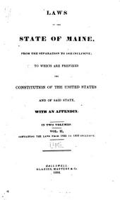 Laws of the State of Maine: 1822-1833