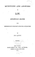 Questions and Answers on Law PDF